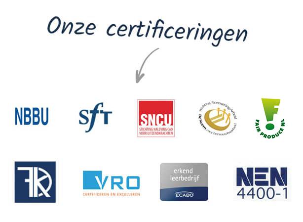 Onze certificeringen
